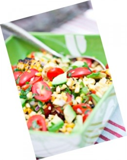 Charred Corn and Avocado Salad