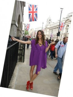 Louise wears 'Louise Roe for HSN', London England