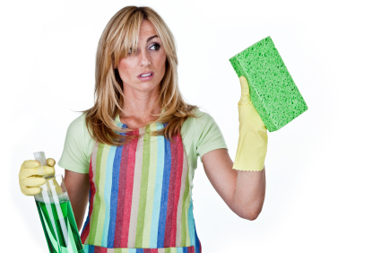 Woman Cleaning